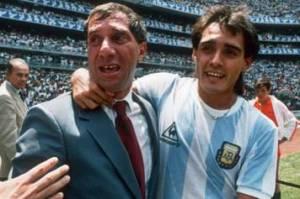Pasculli e il ct Bilardo ai mondiali 1986