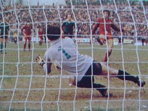 Piotti dell'Avellino para un rigore a Pulici del Torino 1978-79