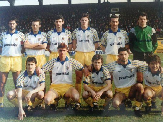 Parma 1989-90 (Osio il primo da sx in piedi, Ganz il primo da sx accosciato)