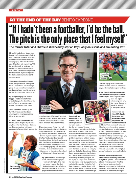 Benny Carbone - FourFourTwo - April 2014  UK_24